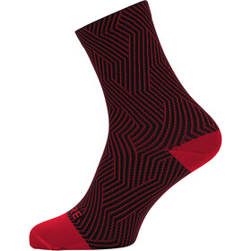 GORE WEAR C3 Optiline Chaussettes mi-hautes, red/black